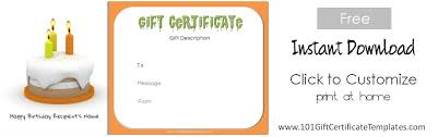 Gift Cards Maker Free Birthday Gift Certificate Template