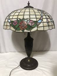 details about antique chicago mosaic leaded stained glass lamp shade base garland wreath 28