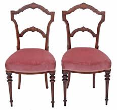 Side Chairs For Bedroom Pair Of Victorian 19th Century Inlaid Walnut Dining Chairs Side