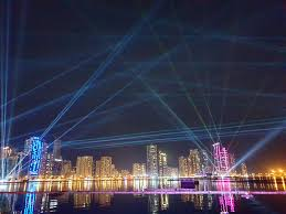 Skyline Festival Of Lights Discount Glimpse Of Sharjah Light Festival 2019 With Sharjah Skyline