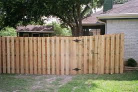 Fence Gate Design Ideas by Wooden: Cedar Wood Shadow Box Style Garden Fence
