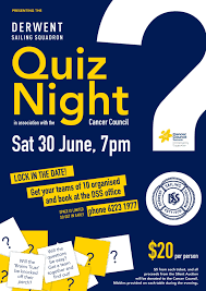 Quiz Night Silent Auction Derwent Sailing Squadron