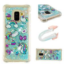 Ốp điện thoại kim tuyến nước họa tiết độc đáo cho Samsung Galaxy A8 2018 A8  Plus A8+