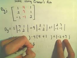 cramer s rule to solve a system of 3 linear equations example 2