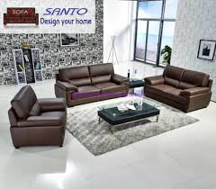 china new design leather sofa set 3 2 1