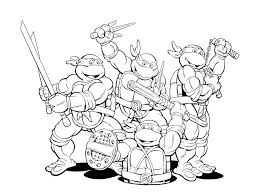 Teenage Mutant Ninja Turtle Coloring Pages Trustbanksurinamecom