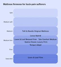 Tempurpedic Firmness Chart The Best Mattresses For Back Pain For 2019 Reviews By