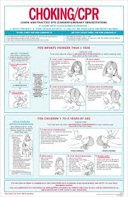 Free Printable First Aid Chart 3 In 1 First Aid Choking Cpr Chart 100 Pk Aap