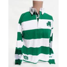 irish green and white striped rugby