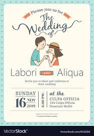 Wedding Invitation Card Sample Groom And Bride Wedding Invitation Card Template Vector Image