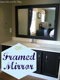 Bathroom Framed Mirrors Diy Framed Mirror