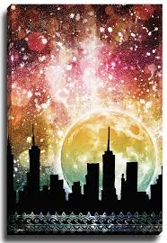 Moonrise by Jenndalyn Graphic Art on Canvas More