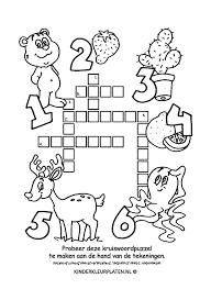 Kleurplaat Kruiswoordpuzzel Cactus Spelletjes