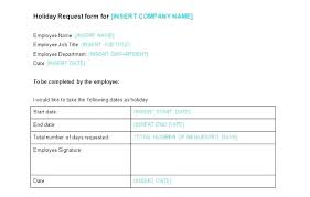 Holiday Request Form Amazing Template Staff Leave Record Employee Vacation Request Rm Sample