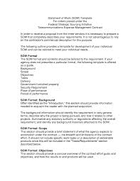 It Sow Template Statement Of Work Sow Template Doc By Kqv17799 Free Project