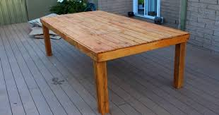 a quick and easy outdoor table made from reclaimed pallet wood all up this took about 4 hours to make and very inexpensive i hope this will motivate
