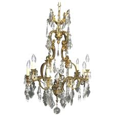 full size of lighting gorgeous antique chandelier crystals 10 french gilded bronze and crystal twelve light