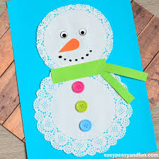 cute doily snowman craft