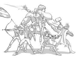 Small Picture The Avengers Defending The Earth Coloring Page Download Print