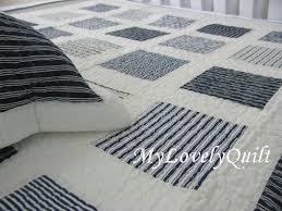 Navy Blue White Patchwork Quilt Set Boy Twin Single N | DIY and ... & Navy Blue White Patchwork Quilt Set Boy Twin Single N Adamdwight.com