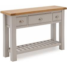 amberly wooden console table in grey