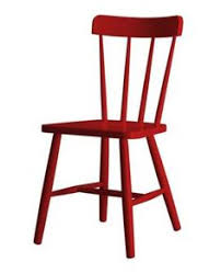 10 easy pieces red dining chairs