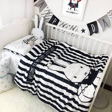 home design shark crib bedding baby cartoon rabbit dinosaurs whale printed set kits cotton duvet cover