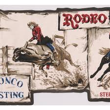 retro art vintage cowboy rodeo