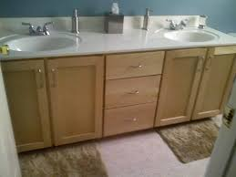 How To Reface Bathroom Cabinets Ieriecom - Bathroom cabinet remodel