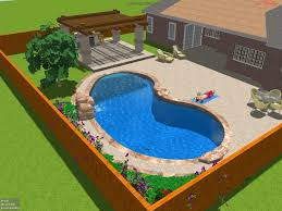 backyard design with pool. Backyard Landscapes With Pools Design Pool A