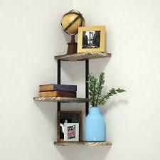 office corner shelf. Image Is Loading Corner-Shelf-Wall-Mounted-3-Tier-Rustic-Wood- Office Corner Shelf I