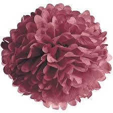 Tissue Paper Flower Ideas Tissue Paper Pom Pom 10 Inch Boysenberry Red For Baby Showers Nurseries And Parties Hanging Paper Flower Decorations