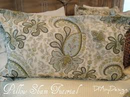 king size pillow shams diy by design how to make a king size pillow sham home dec sewing