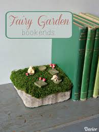 diy fairy garden decor bookends darice 1