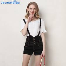 plus size overalls shorts high waist denim shorts women 2017 new slim suspenders girls skinny