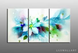 multi panel flower abstract metal wall