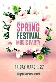 Spring Event Flyer Spring Event Flyer Template Spring Event Flyer Template 9 Best