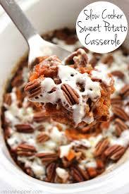 sweet potato casserole recipe with marshmallows and pecans. Fine Potato Slow Cooker Sweet Potato Casserole No Need To Use Precious Oven Space  Grab Your With Recipe Marshmallows And Pecans E