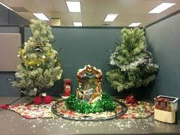 christmas decoration office. Simple Office Christmas Decoration Ideas Cubicle With Tree For Celebration