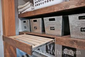 floating shelves pull out drying racks