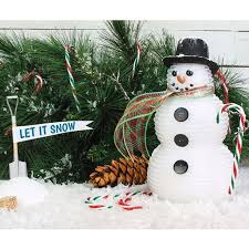How to make a Styrofoam snow man decoration - Build a Snow Buddy - Foam  Mitten