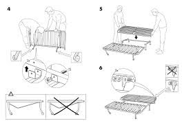 ikea lycksele frame sofabed assembly instruction page 6
