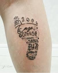 Baby Tattoo тату Tattoo Kind Kindernamen Tattoo и Fußabdruck Tattoo