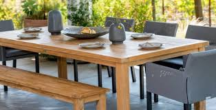 larkspur teak collection with monterey chairs