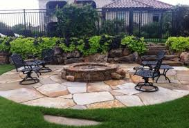 Patio stones with grass in between Fire Pit Fire Pit And Sitting Area Ozbreed Landscaping And Outdoor Projects Classic Rock Stone Yard