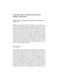 economic impact analysis economic impact analysis of accelerated bridge construction funda yavuz turner joseph solterman upul bandara