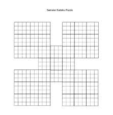 Word File Samurai Puzzle Download Blank Template Literals Printable