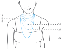 Necklace Chain Length Chart Necklace Length Guide Garland Jewelry