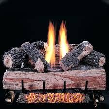 inch oak split gas log set with vent free natural double burner manual safety pilot guys