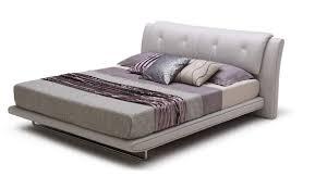 Italain Leather Modern Platform Bed Los Angeles California BHPOSH